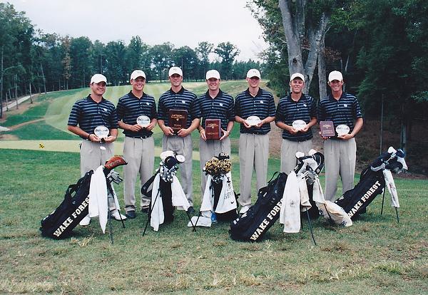 Webb Simpson on the Deacon golf team