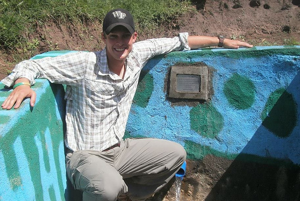 Ty Kraniak with Hydrating Humanitate's first well in Kenya