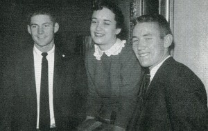 Freshman Class officers in 1958 (from left) Pete Daniel, president; Ann Yongue, secretary; and Larry Ward, vice president.