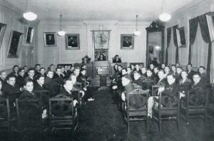 Philomathesian Society meeting hall, 1936