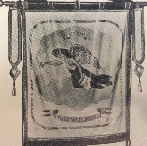 Philomathesian banner from the 1909 Howler