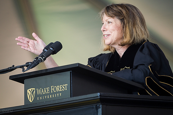 Jill Abramson, speaker at the 2014 Wake Forest University Commencement