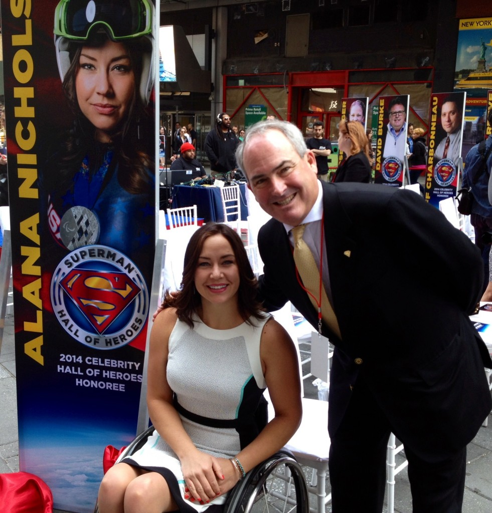 David Furr with Paralympic gold medalist Alana Nichols.