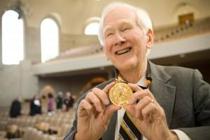 Ed Christman received the Medallion of Merit, the University's highest honor, in 2007.