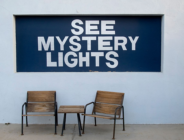Among Marfa's big attractions are sourceless lights that dance on the horizon at random. A viewing area is 10 miles east of town.