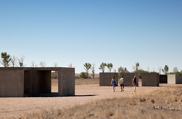 """The freestanding works in concrete took four years to construct. Judd called space around his work """"crucial."""""""