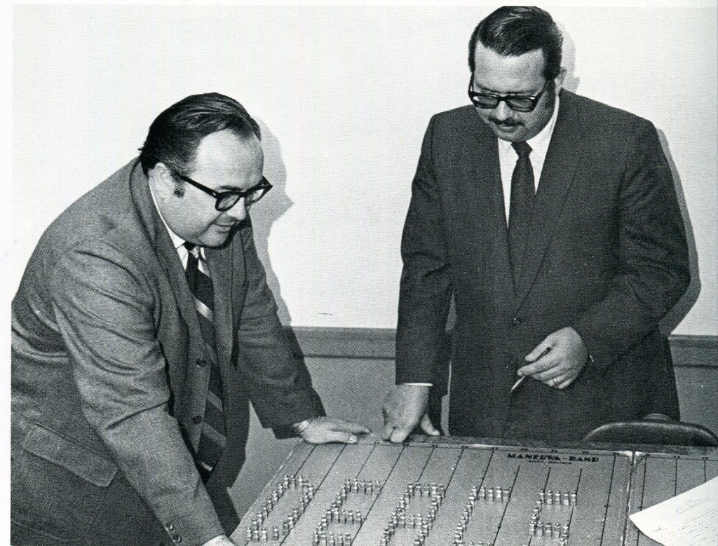 Professor of Music and Band Director Calvin Huber (left).
