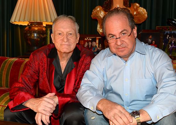 Tom Hayes and Hugh Hefner. Photo by Elayne Lodge.