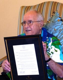 John H. Clayton at his 93rd birthday party.