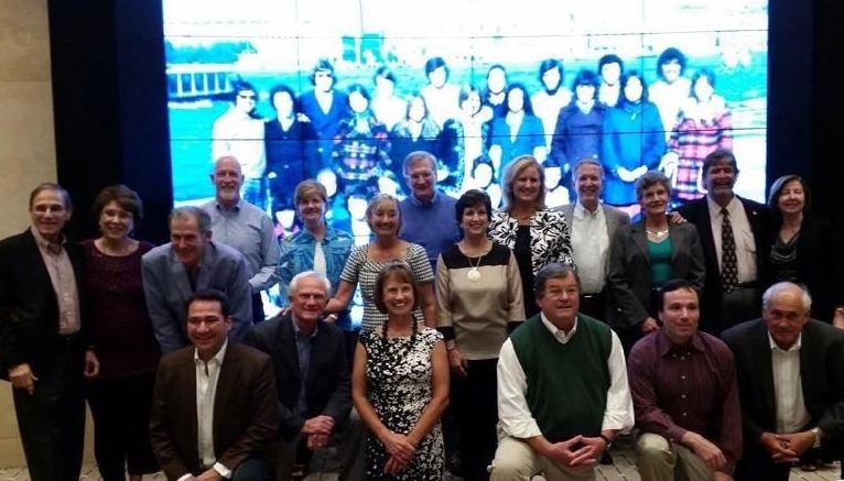 The 1974 Venice group reunites at Homecoming 2014.