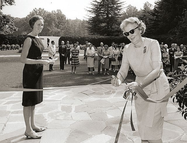 Barbara Babcock Millhouse and Mrs. M.C. Benton, wife of the Winston- Salem mayor, open Reynolda House to the public in 1965; Reynolda House Museum of American Art opens two years later.