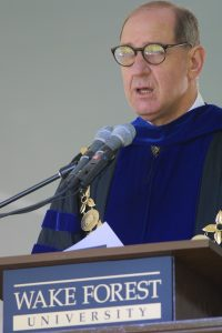 WFU president Dr. Thomas K. Hearn, Jr.