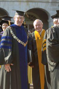 President Thomas K. Hearn Jr., left, and Arnold Palmer