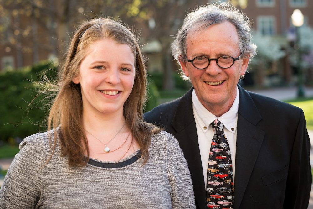Billy Hamilton (German and Russian) and Hannah Widdowson (Psychology major)