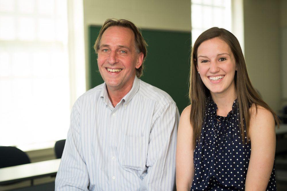 Scott Baker (Education) and Kathryn Norcross (Mathematics major)