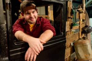"""Senior Perry Ransbottom is the prop manager for """"The Grapes of Wrath."""""""