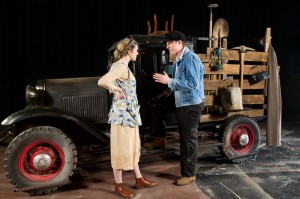 """Juniors Mackenzie Finnegan and James French in """"The Grapes of Wrath."""""""