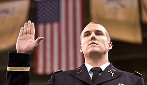 ROTC at graduation