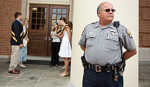 Police patrol at Baccalaureate