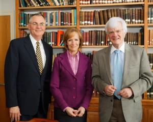 President Hatch with Judy Woodruff and Al Hunt.