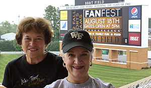 Mary Lou McCormick and Linda McKinnish Bridges, both of the admissions office