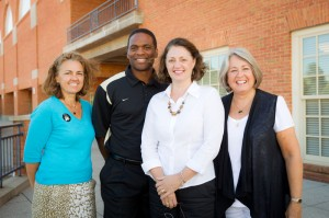 Athletics staff members Christia Fisher, Dwight Lewis, Sherry Long and Julie Griffin are celebrating anniversaries this month.