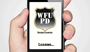 Screen image of the Wake Forest Safer Campus app