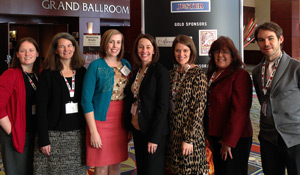 Wake Forest staff members at CASE: (left to right) Elaine Tooley, Cheryl Walker, Gretchen Edwards, Molly Griffith, Katie Neal, Lisa Snedeker and Patrick Beeson