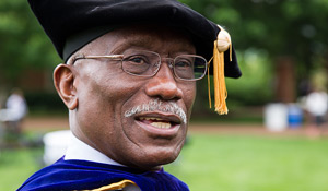 Herman Eure at Commencement