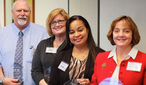 Marc Jones, Sheila Lockhart, Tammy Griffin and Stephanie Reitz have earned their CORE certification.