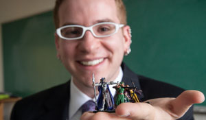 Ted Gellar-Goad was one of five professors recognized for innovative teaching.