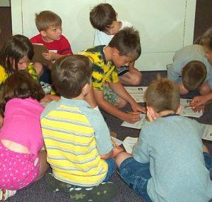 Kids doing an activity