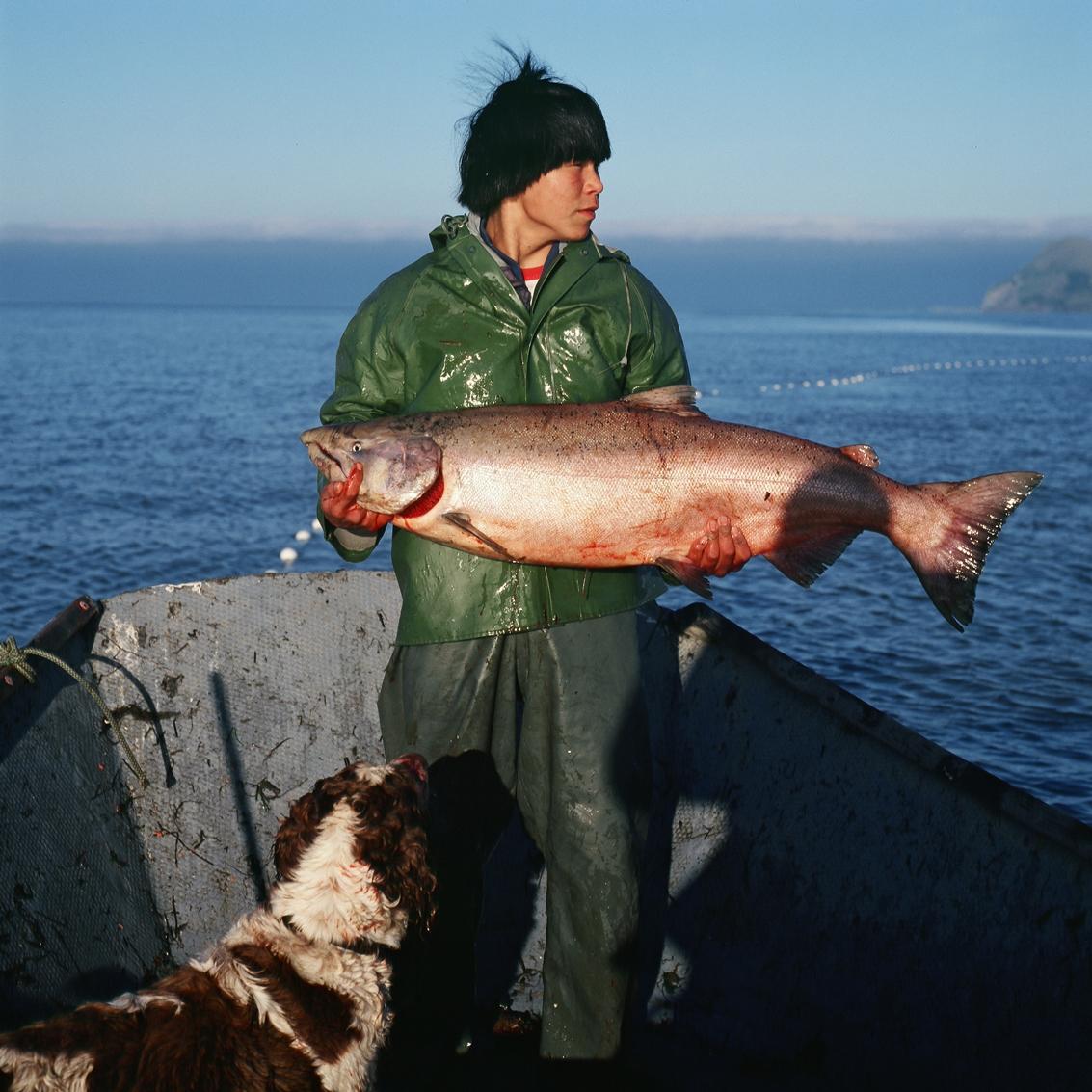alaskan man with fish