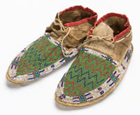 Beaded Leather Moccasins