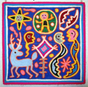 yarn-on-wax-painting-of-animals