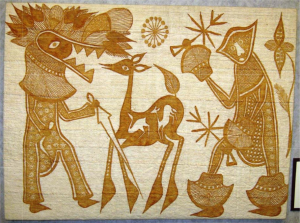 gold-painted-cloth-deer-hunters