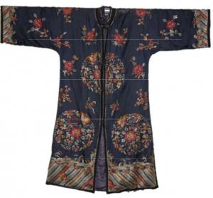 navy blue silk coat china