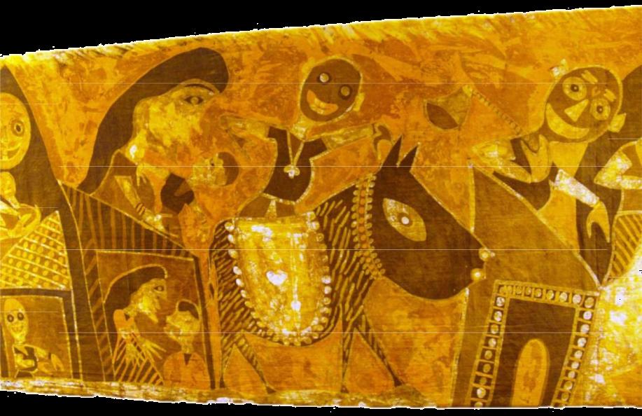batik hanging-yellow