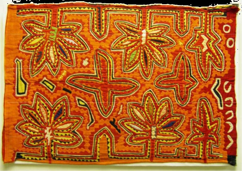 mola embroidery-orange