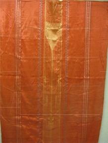 silk embroidered robe-orange