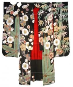 wedding-kimono-japan-red-and-green