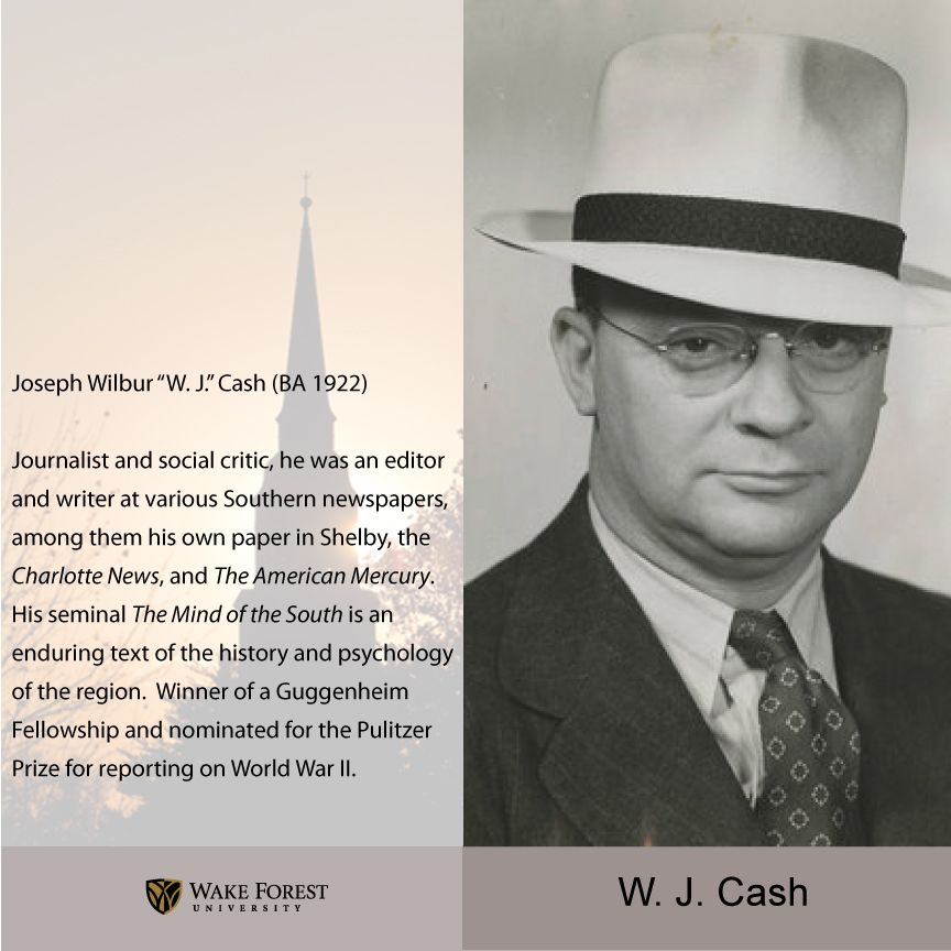 W. J. Cash